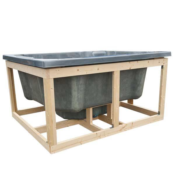 bild Holzrahmen für Einbau Badefass für Terrasse, Quattro