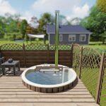 foto 1 einbau badefass fur 3 pers fur terrasse aus gfk und innenofen