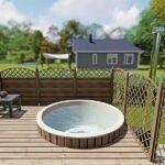 foto 1 einbau badefass fur 4 pers fur terrasse aus gfk und aussenofen