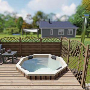 Einbau Badefass für Terrasse