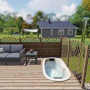 bild 2 einbau badefass fur 2 pers fur terrasse aus gfk