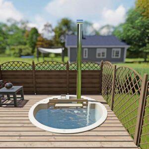 bild 2 einbau badefass fur 3 pers fur terrasse aus gfk und innenofen
