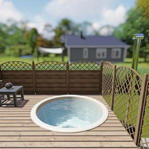 bild 2 einbau badefass fur 4 pers fur terrasse aus gfk und aussenofen