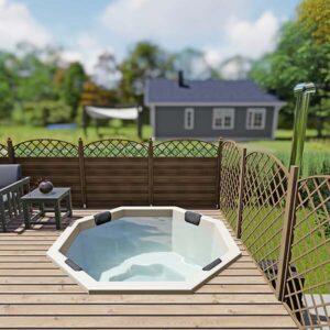 bild 2 einbau badefass fur 7 pers fur terrasse aus gfk
